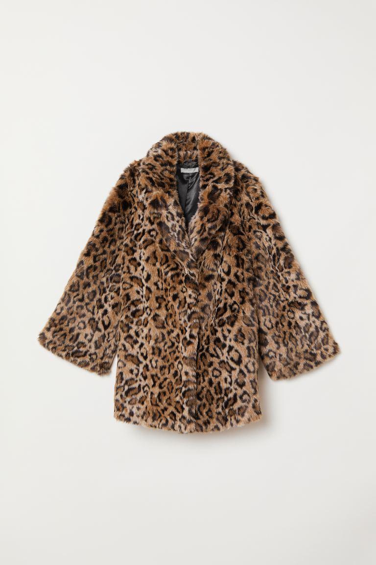 nytt koncept försäljning Storbritannien detailing H&M+ Kappa i fuskpäls - Beige/Leopardmönstrad - DAM | H&M SE