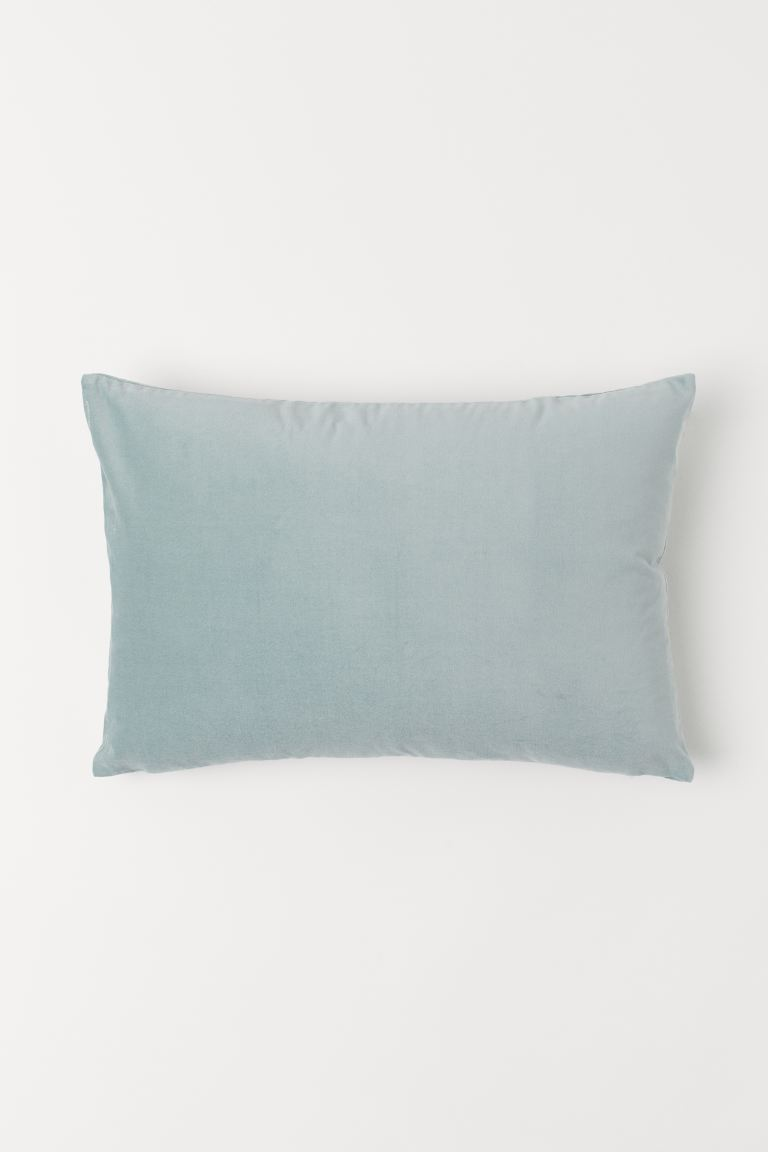 Cotton Velvet Cushion Cover - Turquoise - Home All | H&M US