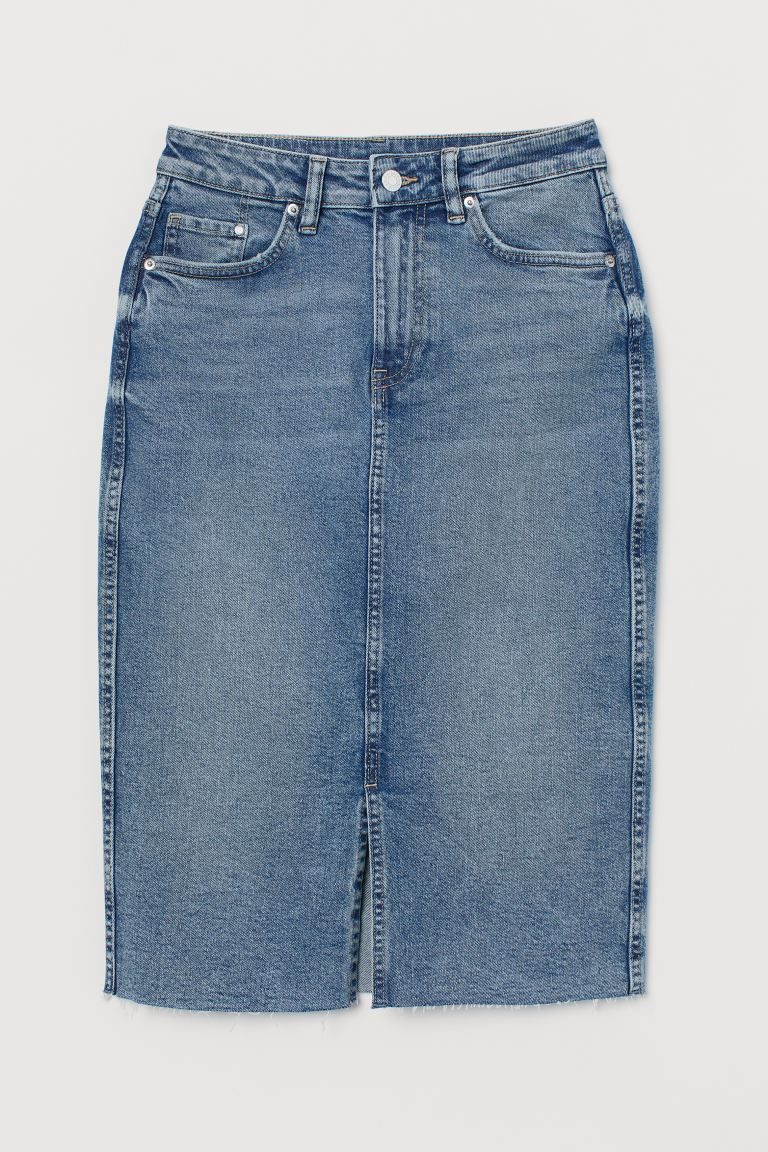 Denim Pencil Skirt - Denim blue - Ladies | H&M US