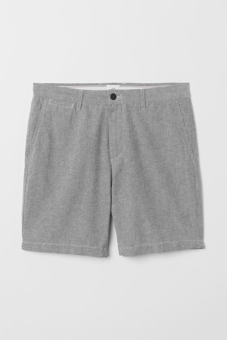 Shorts chino - Gris jaspeado - Men | H&M US