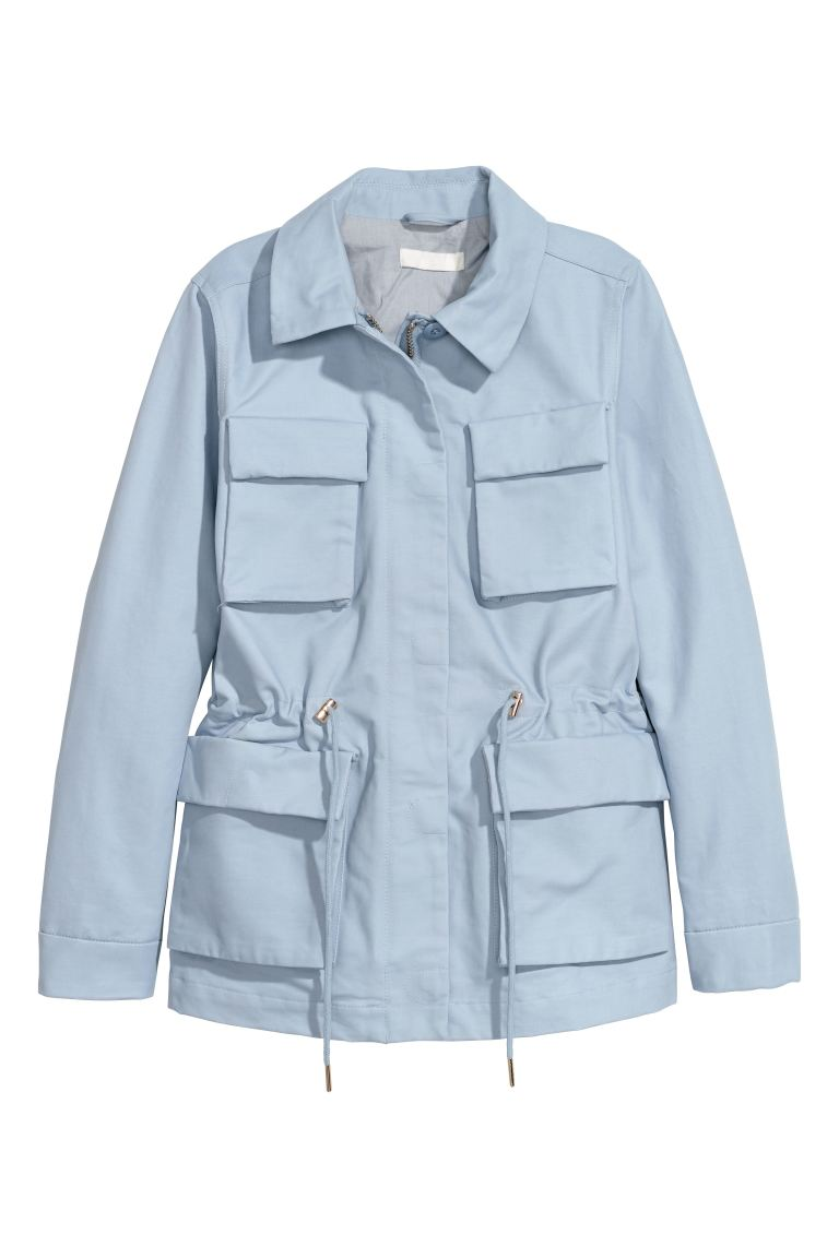 Cotton cargo jacket - Light blue - Ladies | H&M