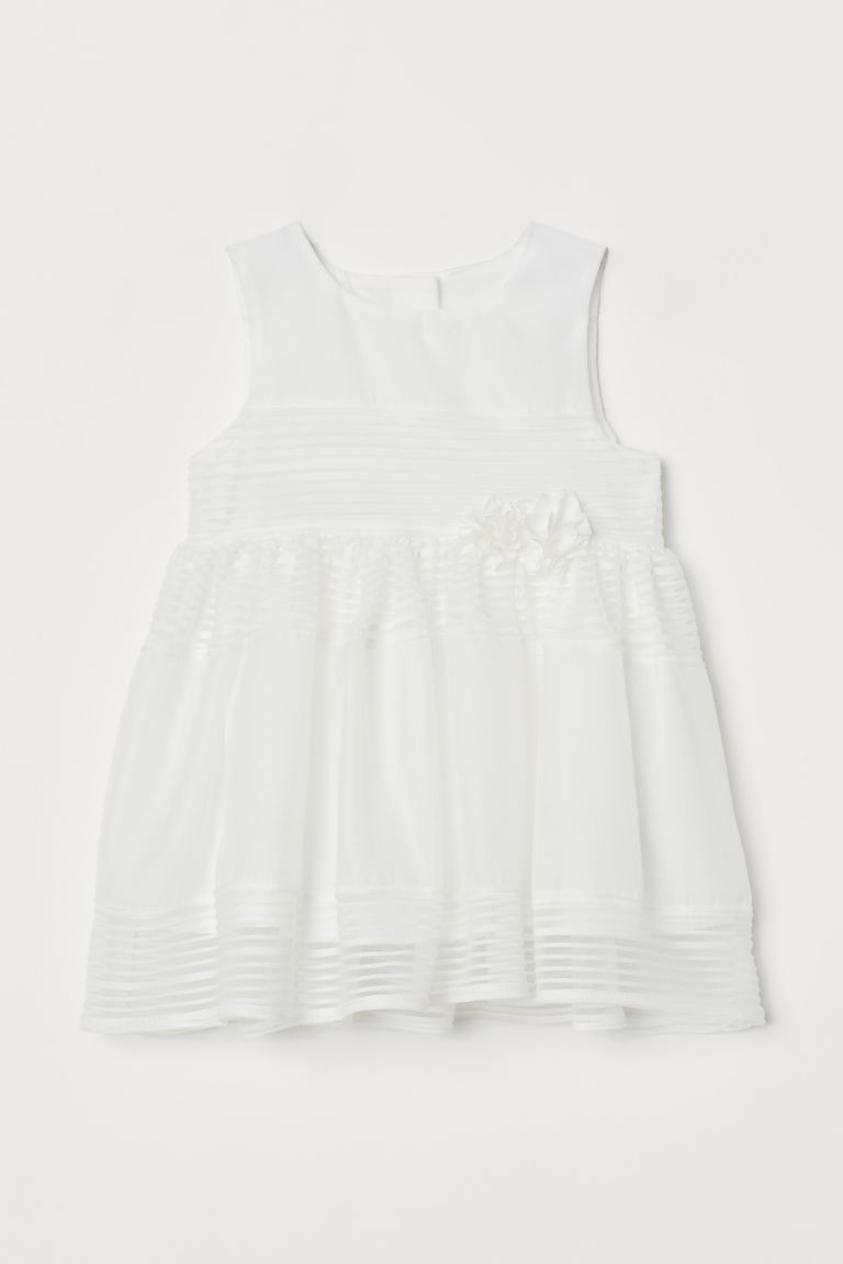 Appliquéd dress - White - Kids | H&M