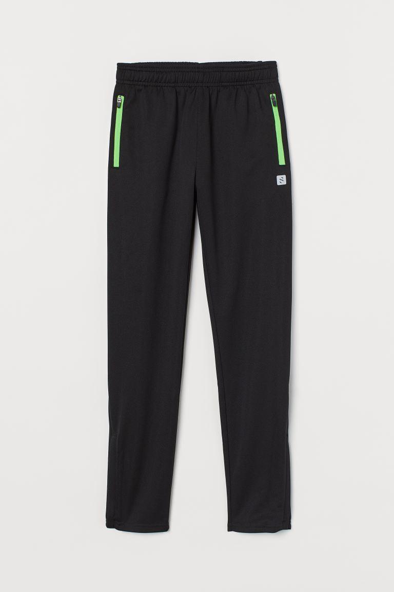 Sports trousers - Black/Neon green - Kids   H&M GB