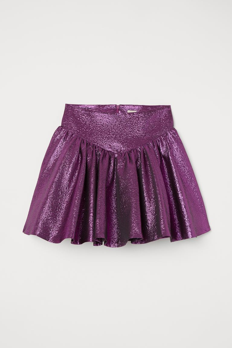 Shimmery Skirt - Purple - Ladies | H&M US