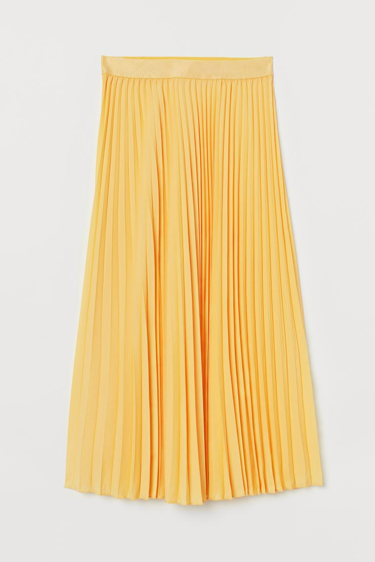 Pleated Skirt - Light yellow - Ladies | H&M US