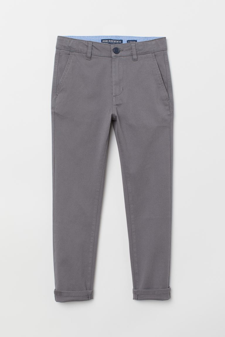 Chino - Skinny Fit - Donkergrijs - KINDEREN | H&M BE