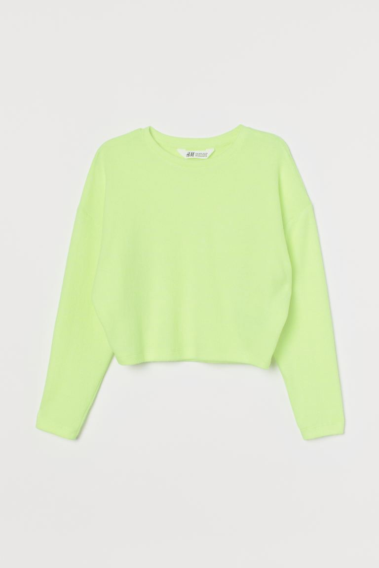 Boxy top - Neon yellow - Kids | H&M