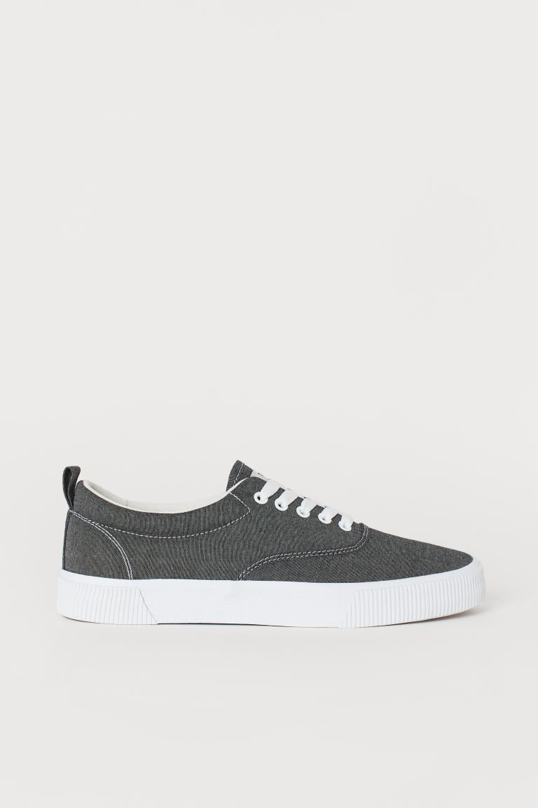 Canvas trainers - Dark blue/Chambray - Men | H&M