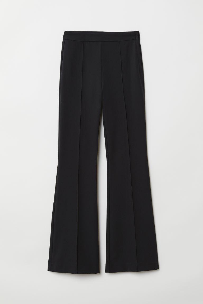 Nieuw Flared broek - Zwart - DAMES   H&M NL LJ-23