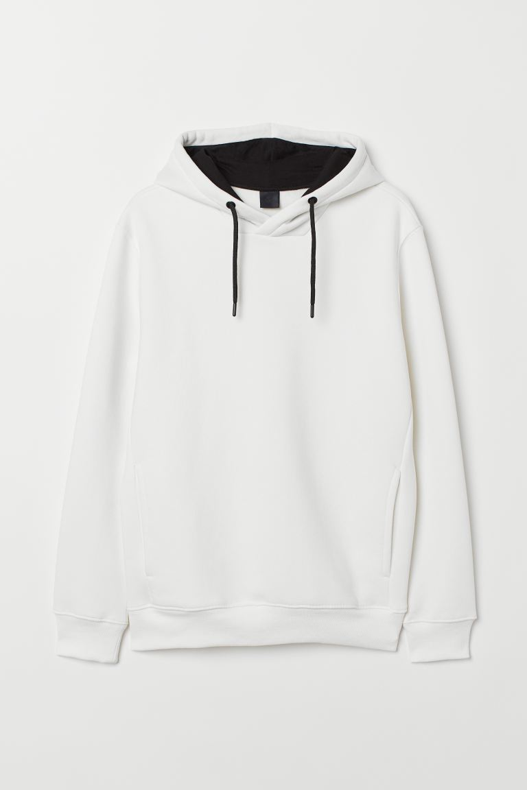 Hooded top - Natural white - Men | H&M