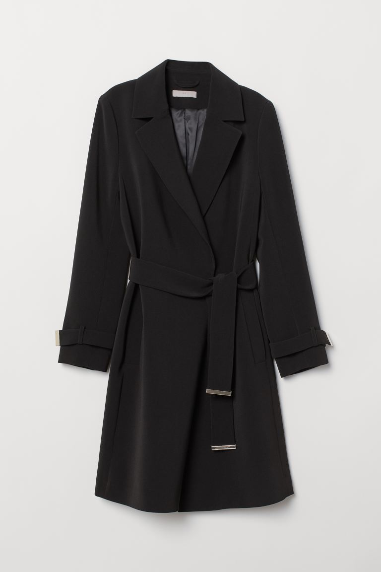 Knee-length coat - Black - Ladies | H&M
