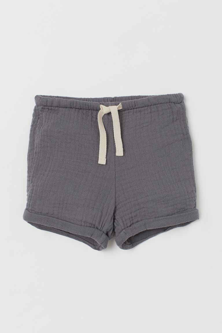 Cotton shorts - Dark grey - Kids | H&M GB