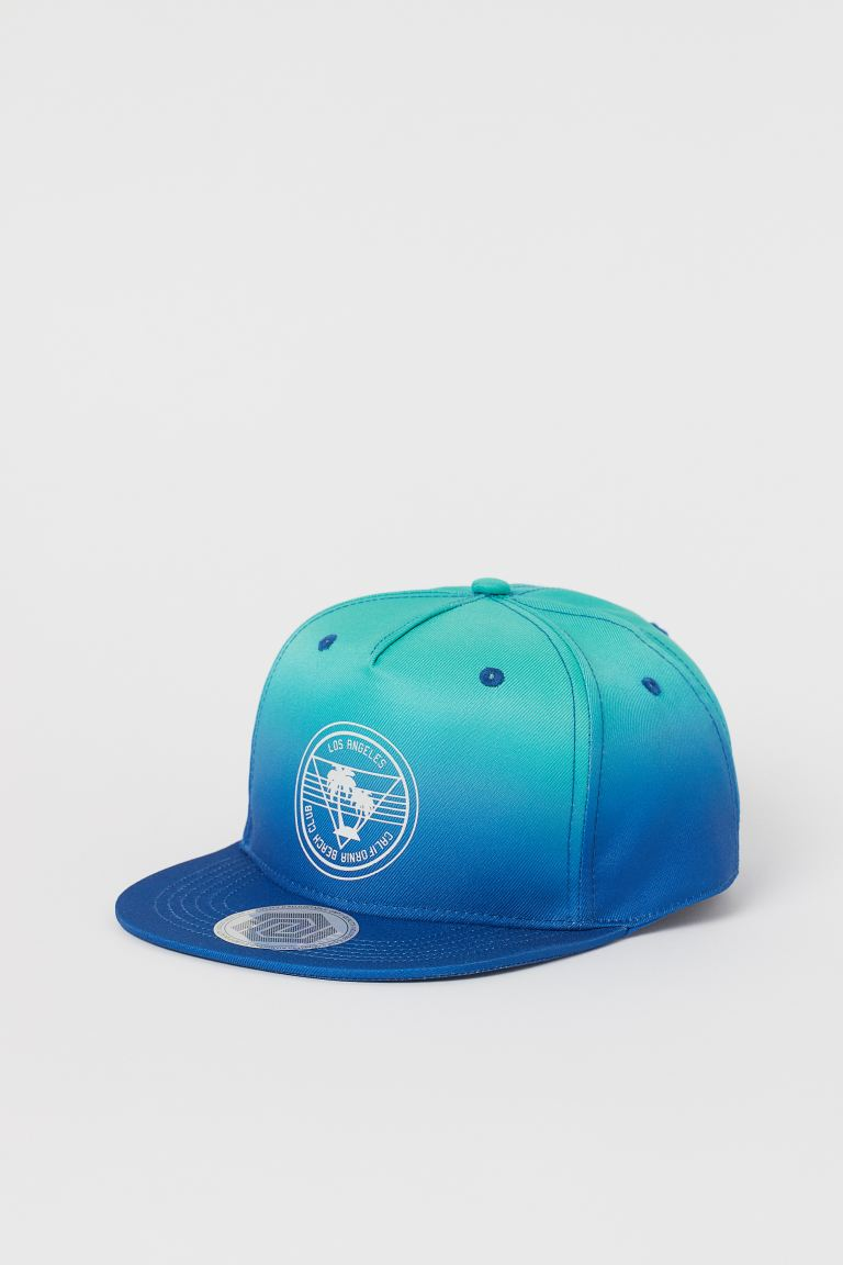 Cap with Motif - Blue/turquoise - Kids | H&M US