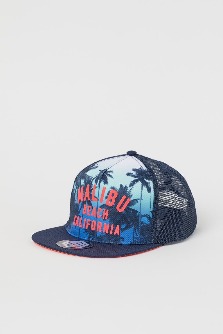Cap with Motif - Dark blue/Malibu Beach - Kids | H&M US