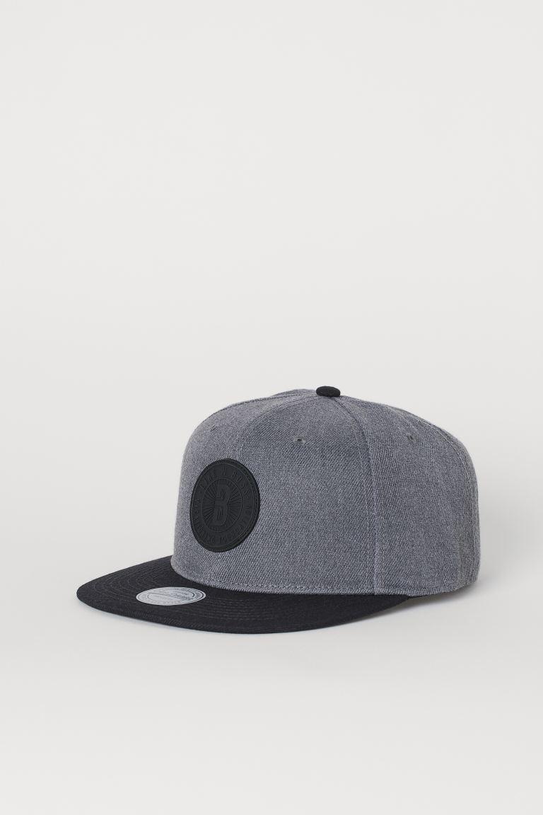 Cap with an appliqué - Dark grey marl/B - Men   H&M GB