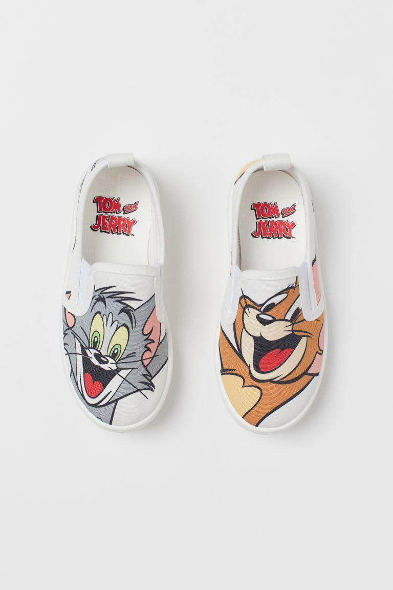 Slip-on printed trainers - White/Tom and Jerry - Kids | H&M
