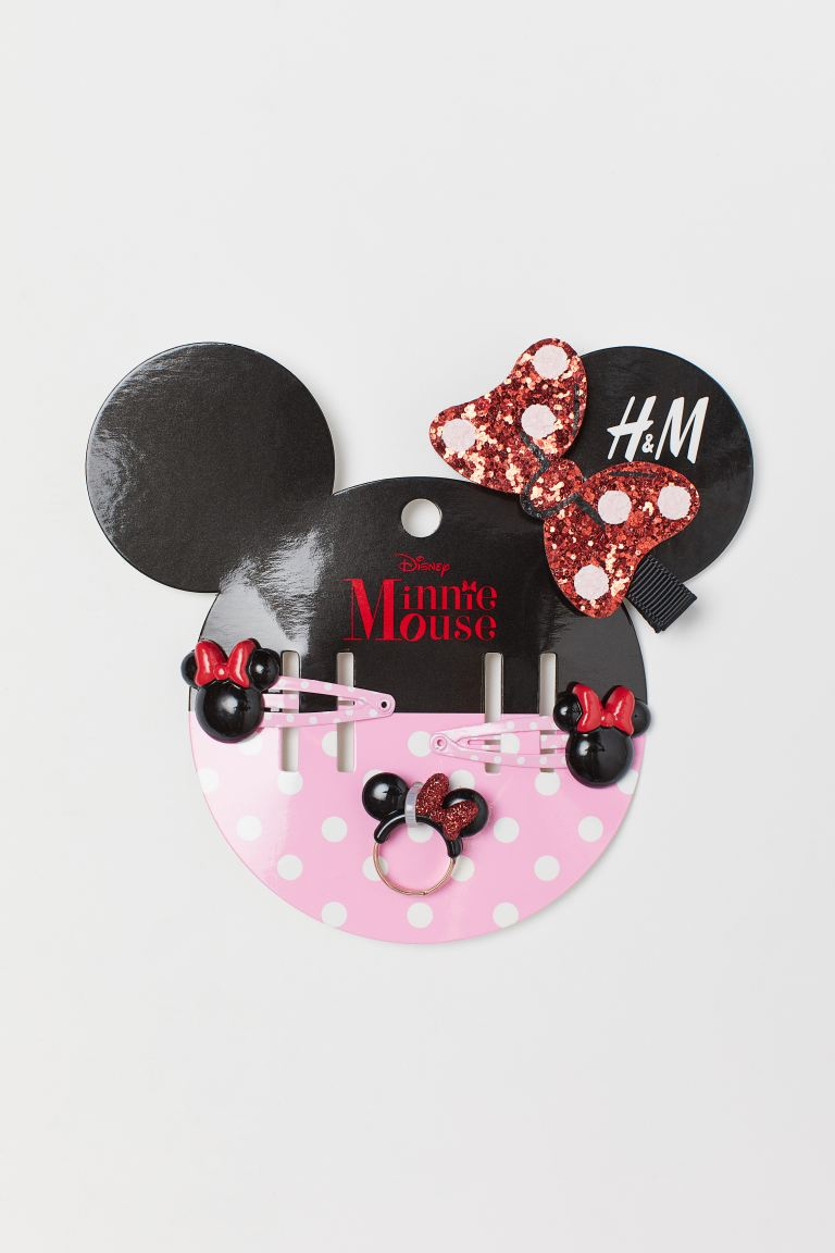 4-piece accessories set - Light pink/Minnie Mouse - Kids | H&M IN