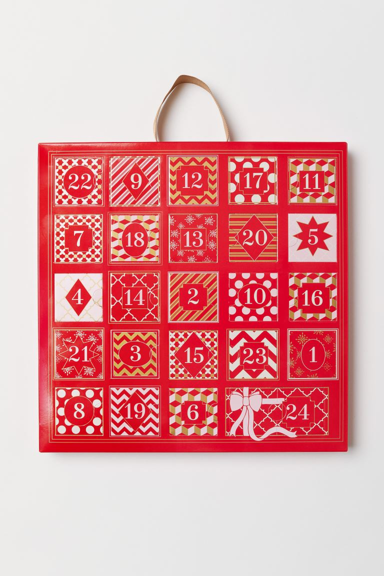 Advent Calendar with Jewelry - Red - Ladies | H&M US