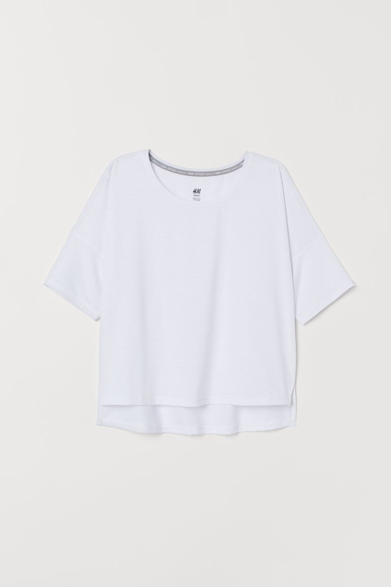 Wide sports top - White - Ladies | H&M