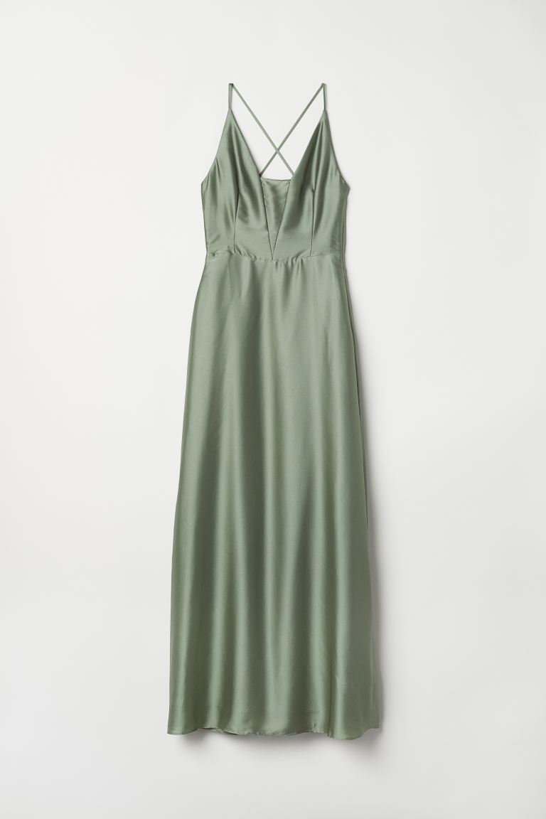 Maxi dress - Dusky green - Ladies | H&M IN