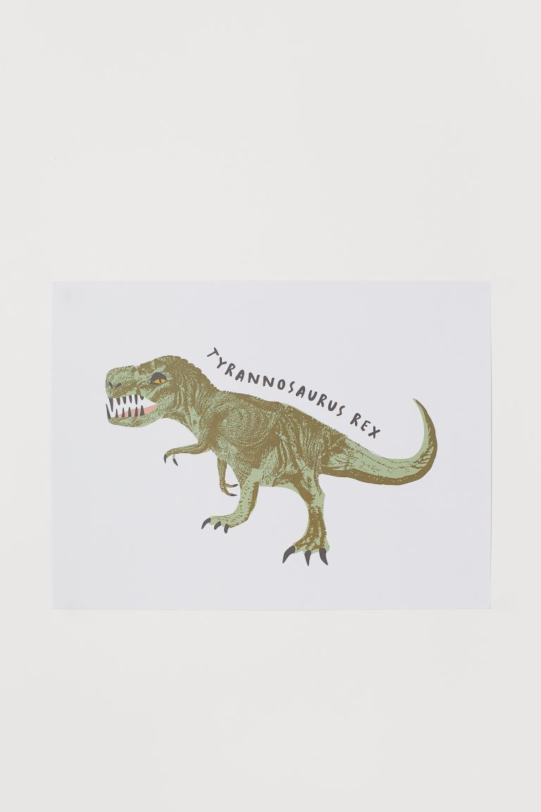 Poster - White/T-Rex - Home All | H&M IE