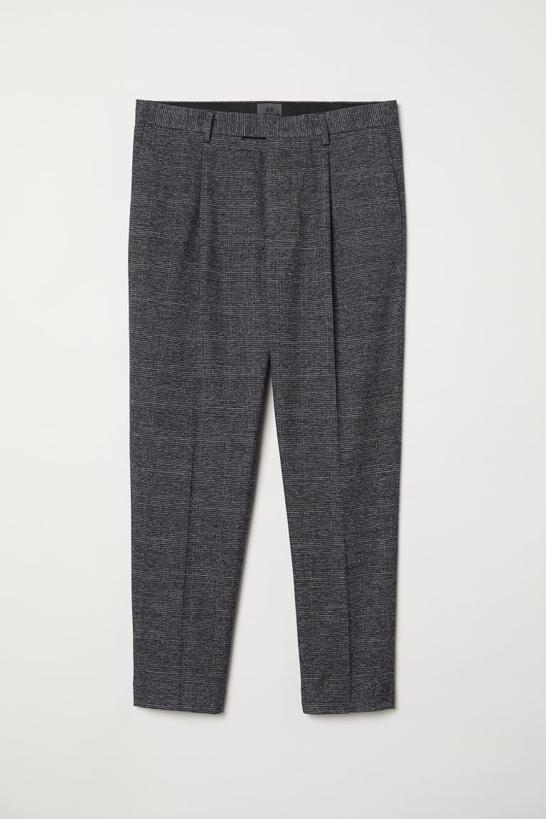 Checked Suit Pants - Gray/checked - Men | H&M US
