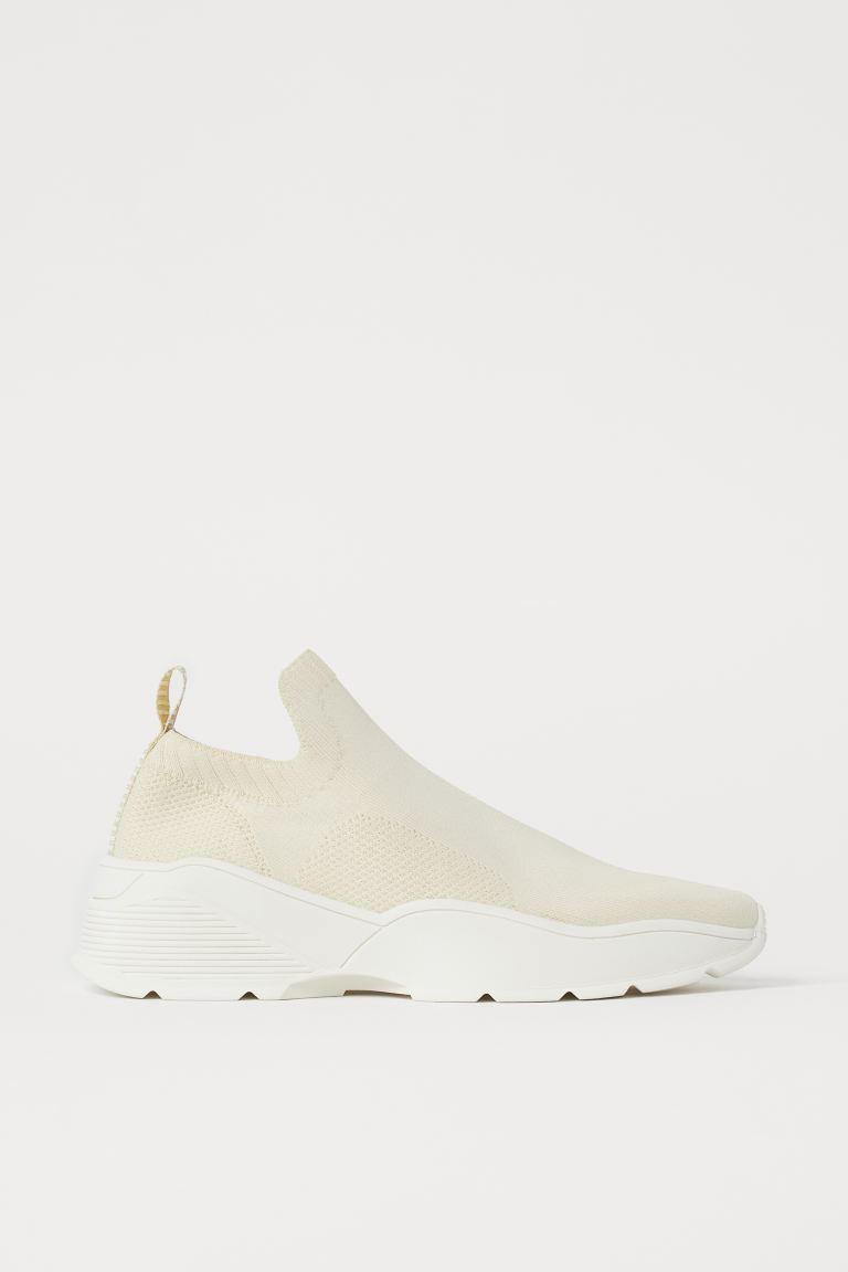 Fully-fashioned trainers - Light beige - Ladies | H&M