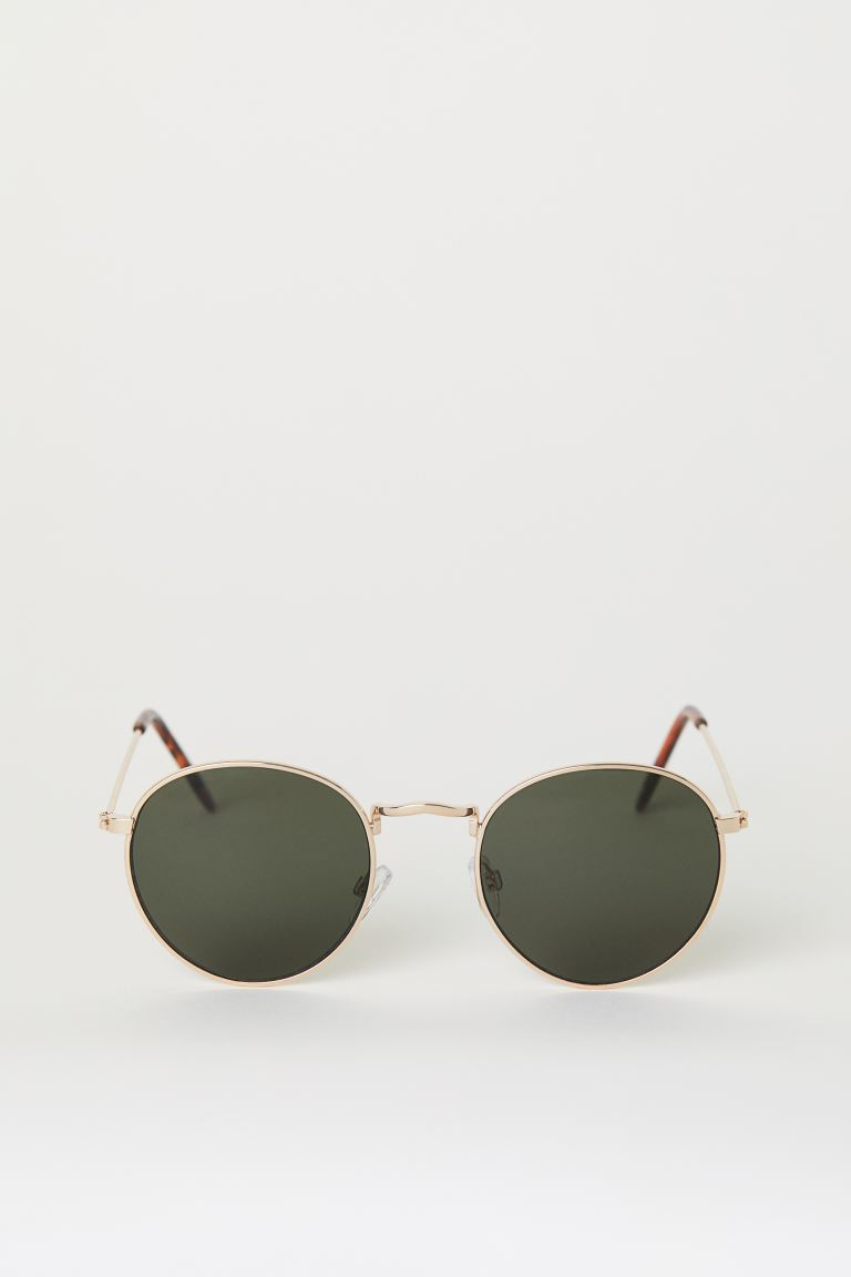 Sunglasses - Gold/dark green - Men | H&M US
