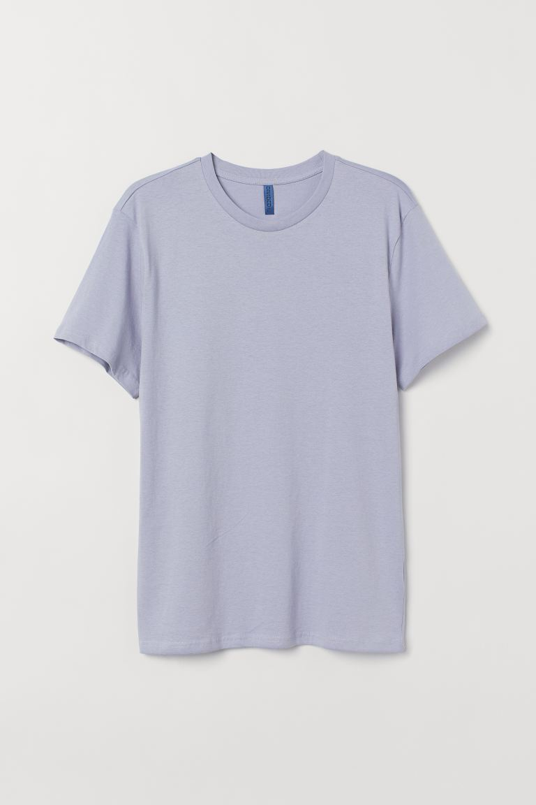 Round-neck T-shirt Regular Fit - Light purple - Men | H&M
