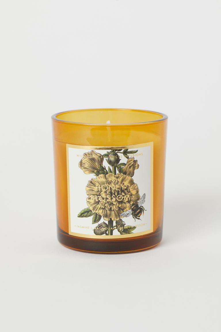 Duftlys i glassbeholder - Gul/Honey Blossom - Home All | H&M NO