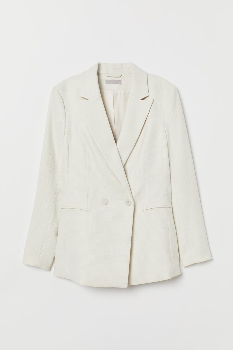 Double-breasted Blazer - Cream - Ladies | H&M US