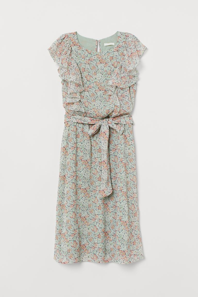 MAMA Nursing Dress - Mint green/floral - Ladies | H&M CA