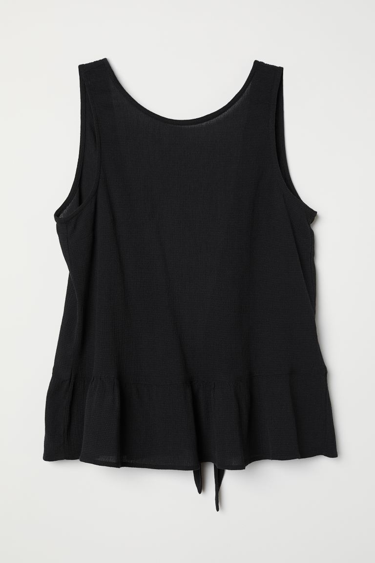 Top with a low-cut back - Black - Ladies | H&M IN