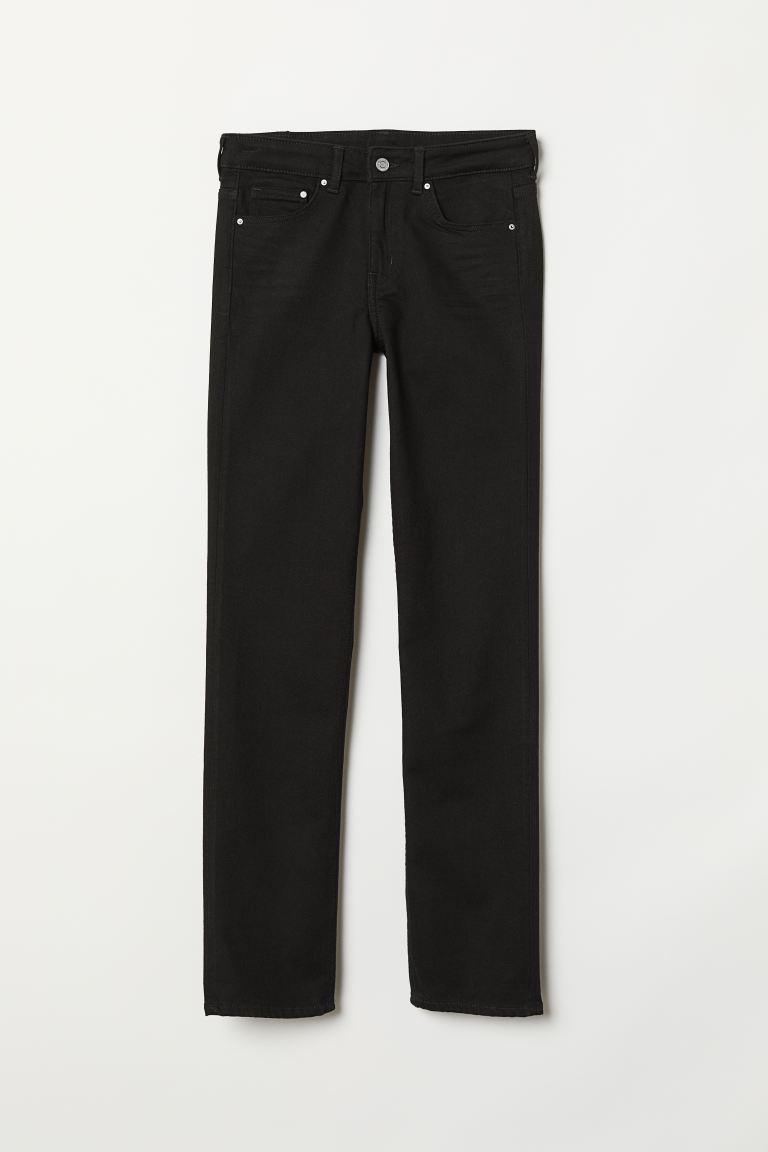 Straight Regular Jeans - Siyah/No fade back - KADIN | H&M TR