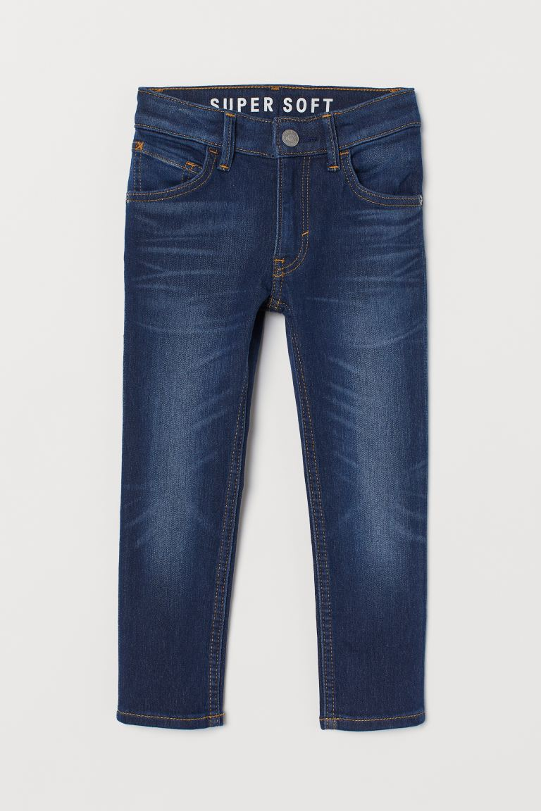 Super Soft Skinny Fit Jeans - Dark denim blue - Kids | H&M
