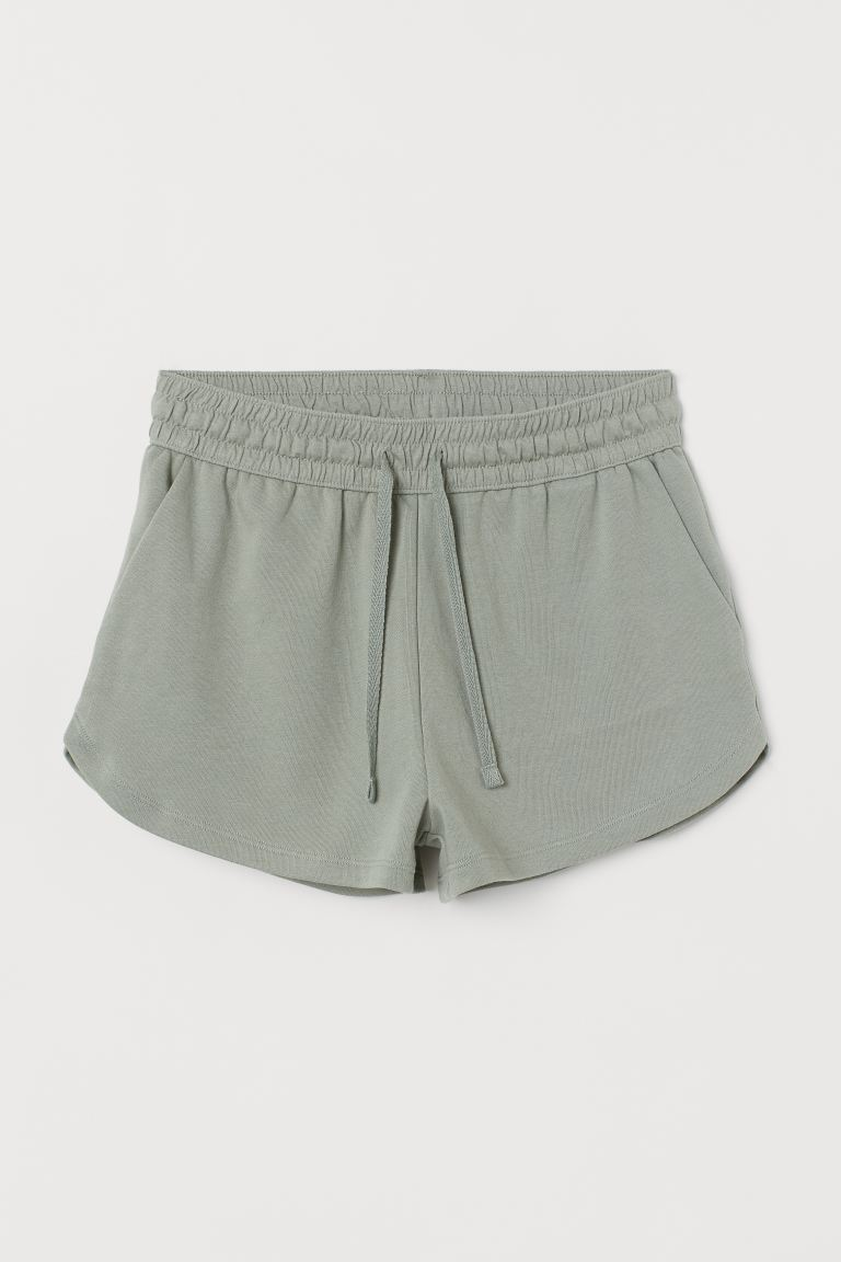 Sweatshorts - Light khaki green - Ladies | H&M US