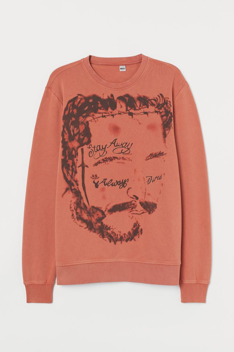 Printed sweatshirt - Rust brown/Post Malone - Men | H&M