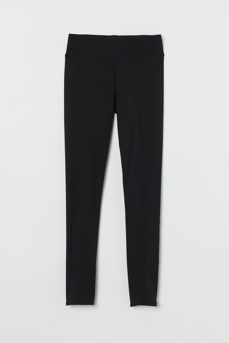 Leggings i bomull - Sort - DAME | H&M NO