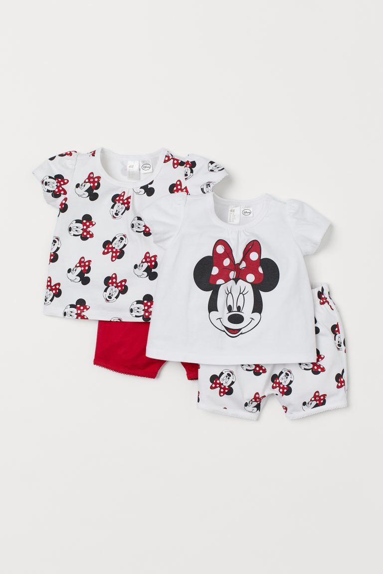 2-pack jersey pyjamas - Red/Minnie Mouse - Kids | H&M GB
