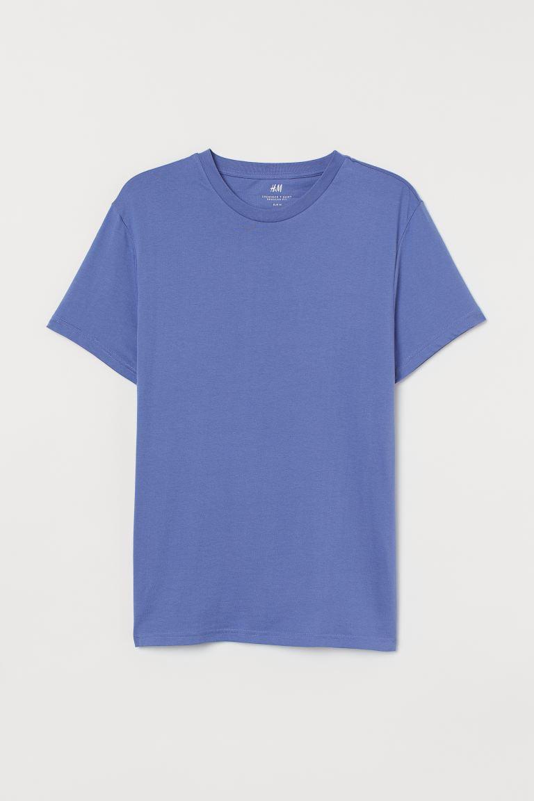 Round-neck T-shirt Regular Fit - Mauve - Men | H&M GB