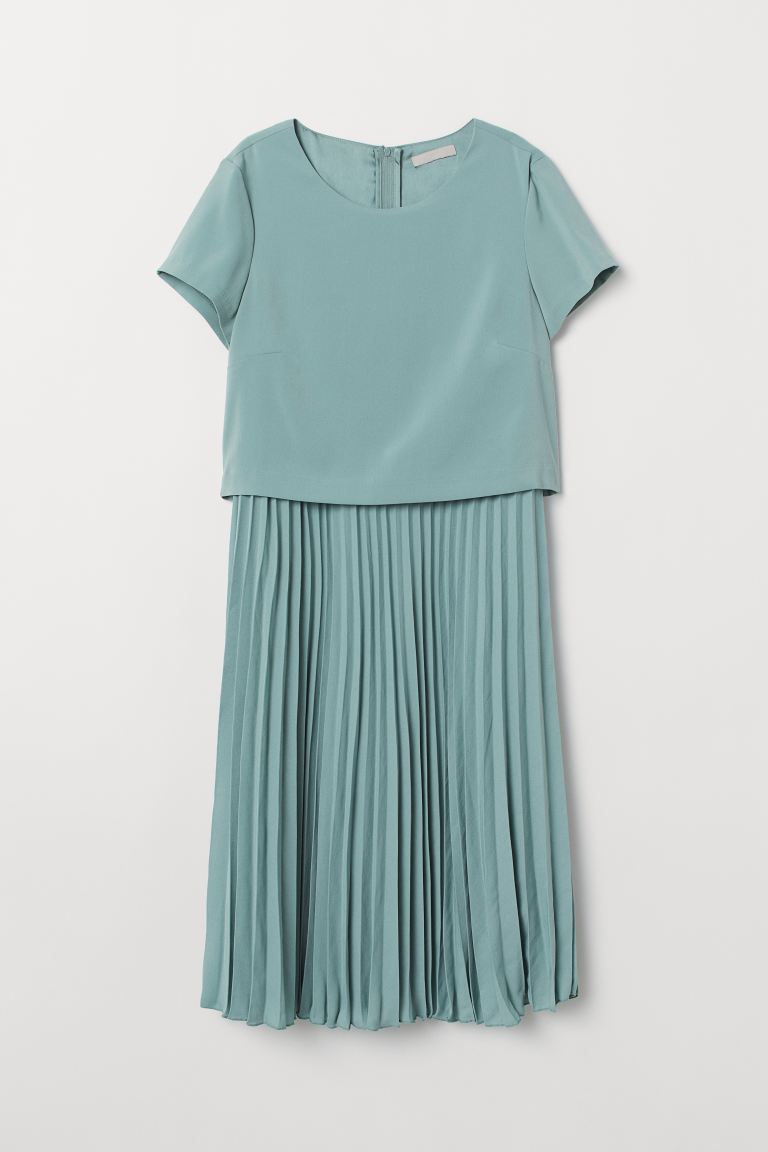 Pleated Dress - Turquoise - Ladies | H&M US
