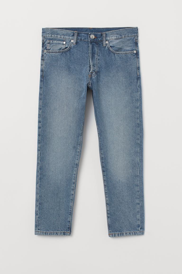 Slim Straight Cropped Jeans - Blau - Men | H&M AT