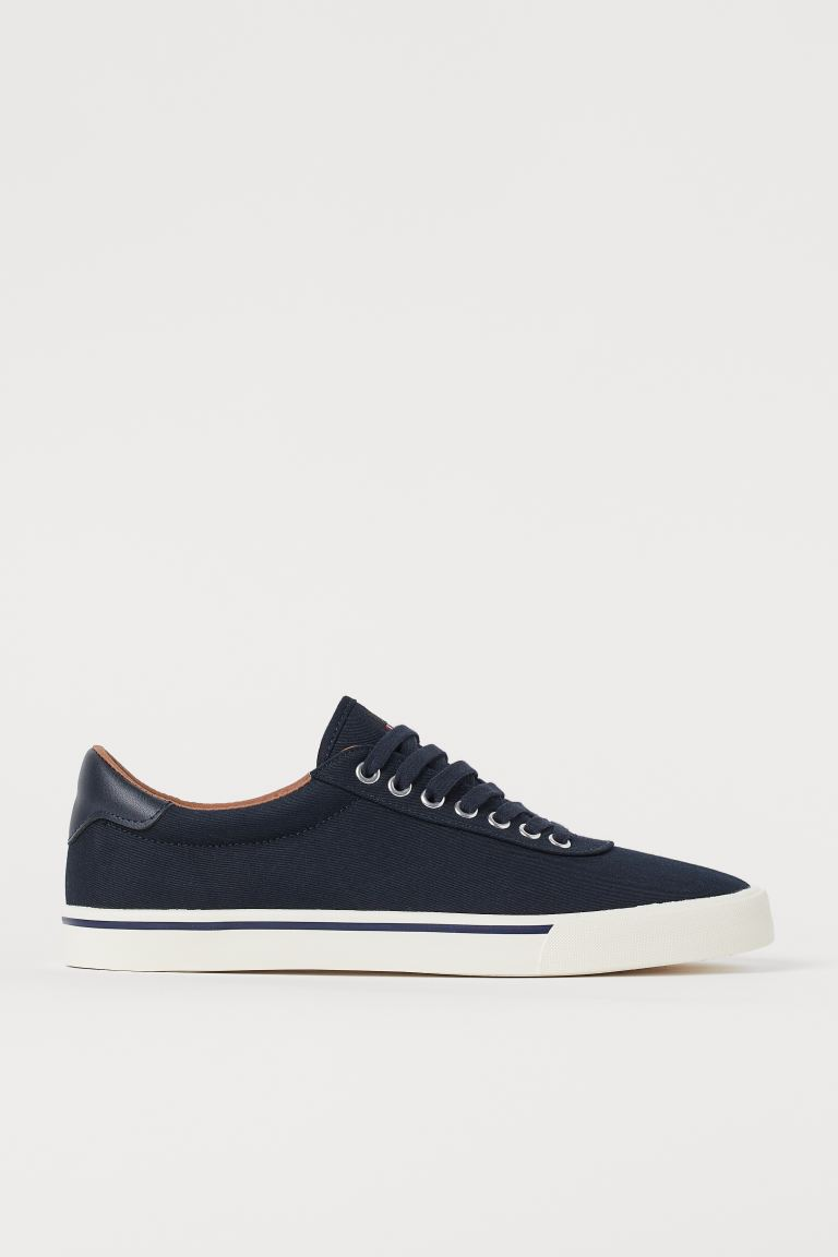 Canvas trainers - Dark blue - Men | H&M GB