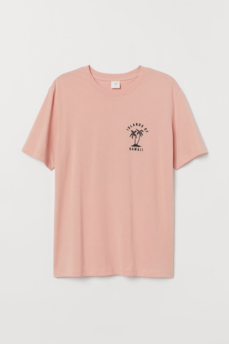 Printed T-shirt - Light pink/Hawaii - Men | H&M