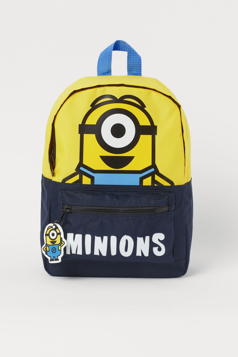 Printed backpack - Yellow/Despicable Me - Kids | H&M GB