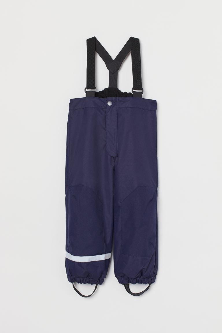 Outdoor trousers with braces - Dark blue - Kids | H&M GB