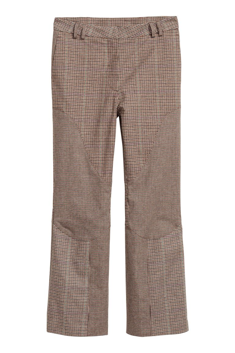 Pantalon Cropped - Marron/noir/carreaux -  | H&M CH