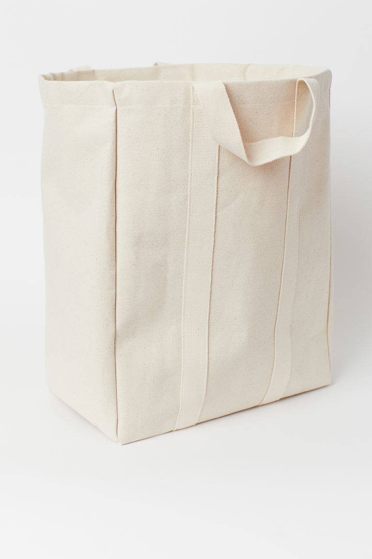 Canvas Laundry Bag - Natural white - Home All | H&M CA