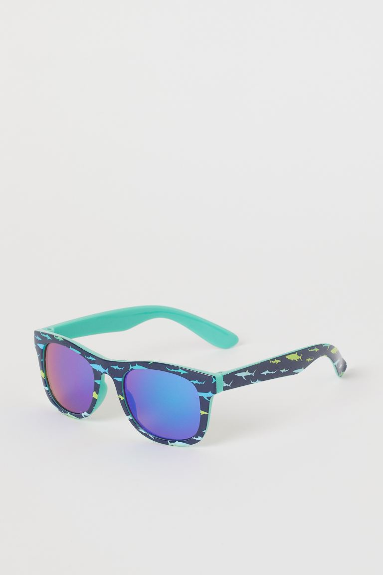 Sunglasses - Dark blue/Sharks - Kids | H&M