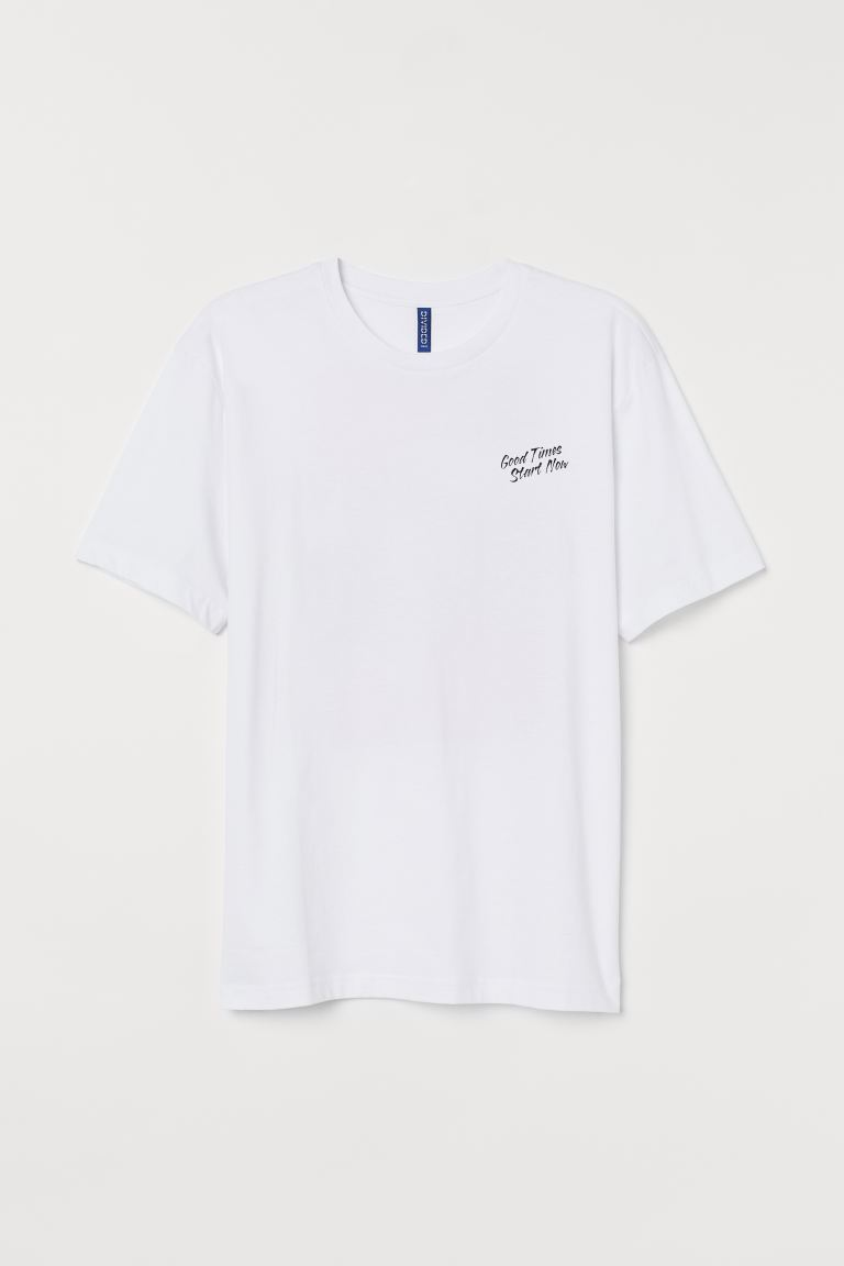 T-shirt com estampado - Branco/Los Angeles -  | H&M PT